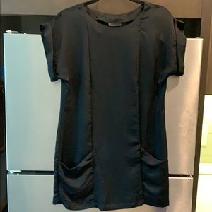 LBD. Black Short Sleeve Dress.With Pockets. SizeS.